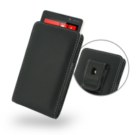 Nokia Lumia 820 Pouch Case with Belt Clip PDair Premium Hadmade Genuine Leather Protective Case Sleeve Wallet