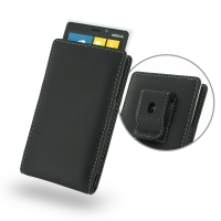 Nokia Lumia 920 Pouch Case with Belt Clip PDair Premium Hadmade Genuine Leather Protective Case Sleeve Wallet