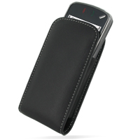 Leather Vertical Pouch Belt Clip Case for Nokia N97 (Black)