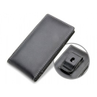Panasonic Eluga Pouch Case with Belt Clip (Black) PDair Premium Hadmade Genuine Leather Protective Case Sleeve Wallet