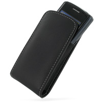 Leather Vertical Pouch Belt Clip Case for Samsung C6112 (Black)