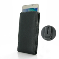 Leather Vertical Pouch Belt Clip Case for Samsung Galaxy A7 SM-A700