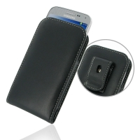 Leather Vertical Pouch Belt Clip Case for Samsung GALAXY BEAM2 G3858