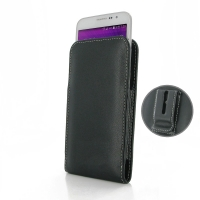 Samsung Galaxy Grand Max Pouch Case with Belt Clip PDair Premium Hadmade Genuine Leather Protective Case Sleeve Wallet