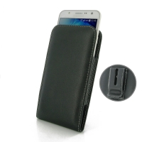 Leather Vertical Pouch Belt Clip Case for Samsung Galaxy J7 SM-J700F