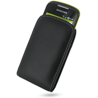 Leather Vertical Pouch Belt Clip Case for Samsung Galaxy Mini GT-S5570 (Black)