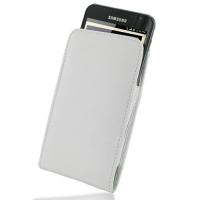 Leather Vertical Pouch Belt Clip Case for Samsung Galaxy Note GT-N7000 (White)