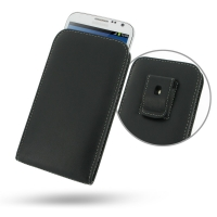 Leather Vertical Pouch Belt Clip Case for Samsung Galaxy Note 2 | Samsung Galaxy Note2 | GT-N7100