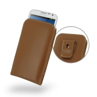 Leather Vertical Pouch Belt Clip Case for Samsung Galaxy Note 2 | Samsung Galaxy Note2 | GT-N7100 (Brown)
