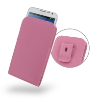 Leather Vertical Pouch Belt Clip Case for Samsung Galaxy Note 2 | Samsung Galaxy Note2 | GT-N7100 (Petal Pink)