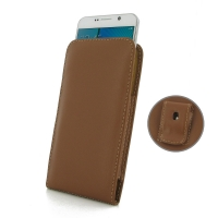 Leather Vertical Pouch Belt Clip Case for Samsung Galaxy Note 5 | Samsung Galaxy Note5 (Brown)
