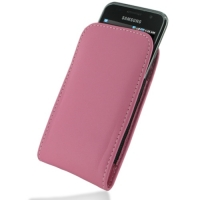 Samsung Galaxy S / Plus Pouch Case with Belt Clip (Petal Pink) PDair Premium Hadmade Genuine Leather Protective Case Sleeve Wallet