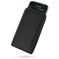 Leather Vertical Pouch Belt Clip Case for Samsung Galaxy S GT-i9003 (Black)