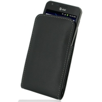 Leather Vertical Pouch Belt Clip Case for Samsung Galaxy S II LTE SGH-i727R (Black)