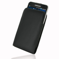 Samsung Galaxy S WiFi 5.0 Pouch Case with Belt Clip PDair Premium Hadmade Genuine Leather Protective Case Sleeve Wallet
