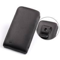 Samsung Galaxy S4 Active Pouch Case with Belt Clip PDair Premium Hadmade Genuine Leather Protective Case Sleeve Wallet