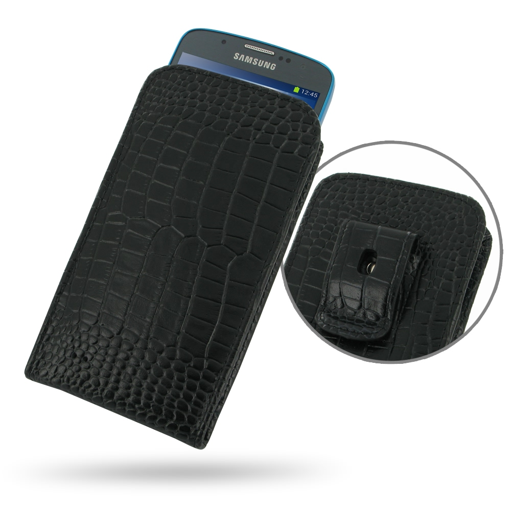 10% OFF + FREE SHIPPING, Buy PDair Quality Handmade Protective Samsung Galaxy S4 Active Pouch Case with Belt Clip (Black Croc Pattern). You also can go to the customizer to create your own stylish leather case if looking for additional colors, patterns an