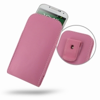 Leather Vertical Pouch Belt Clip Case for Samsung Galaxy S4 SIV LTE GT-i9500 GT-i9505 (Petal Pink)