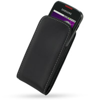 Leather Vertical Pouch Belt Clip Case for Samsung i5700 Galaxy Spica (Black)