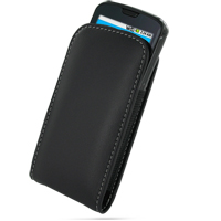 Leather Vertical Pouch Belt Clip Case for Samsung i7500 Galaxy (Black)