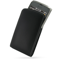 Leather Vertical Pouch Belt Clip Case for Samsung Jack SGH-i637 (Black)