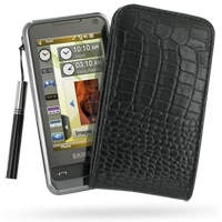10% OFF + FREE SHIPPING, Buy PDair Quality Handmade Protective Samsung Omnia i908 i900 Pouch Case with Belt Clip (Black Croc Pattern). You also can go to the customizer to create your own stylish leather case if looking for additional colors, patterns and