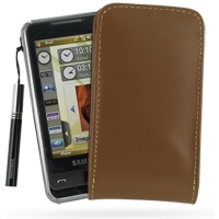 10% OFF + FREE SHIPPING, Buy PDair Top Quality Handmade Protective Samsung Omnia i908 i900 Pouch Case with Belt Clip (Brown) online. You also can go to the customizer to create your own stylish leather case if looking for additional colors, patterns and t