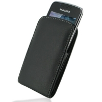 Leather Vertical Pouch Belt Clip Case for Samsung Wave Y GT-S5380 (Black)