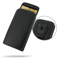 Leather Vertical Pouch Belt Clip Case for Sharp Aquos Phone SH930W