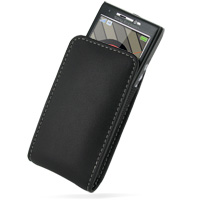 Sony Ericsson W995 Pouch Case with Belt Clip (Black) PDair Premium Hadmade Genuine Leather Protective Case Sleeve Wallet