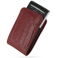 Leather Vertical Pouch Belt Clip Case for Sony Ericsson Xperia X10 Mini (Red Crocodile Pattern)