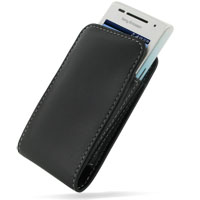 Leather Vertical Pouch Belt Clip Case for Sony Ericsson Xperia X8 W8 Walkman (Black)