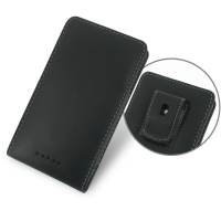 Sony Xperia C Pouch Case with Belt Clip PDair Premium Hadmade Genuine Leather Protective Case Sleeve Wallet