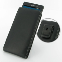 Leather Vertical Pouch Belt Clip Case for Sony Xperia Ion LT28i