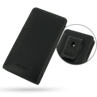 Sony Xperia M Pouch Case with Belt Clip PDair Premium Hadmade Genuine Leather Protective Case Sleeve Wallet