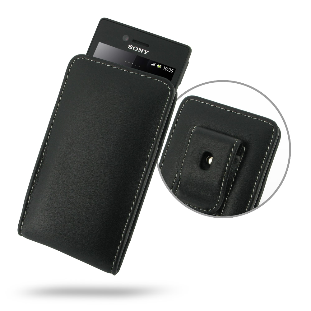 10% OFF + FREE SHIPPING, Buy Best PDair Top Quality Handmade Protective Sony Xperia Miro Pouch Case with Belt Clip (Black). You also can go to the customizer to create your own stylish leather case if looking for additional colors, patterns and types.