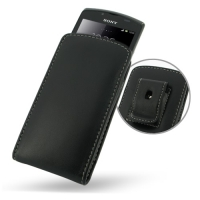 10% OFF + FREE SHIPPING, Buy Best PDair Top Quality Handmade Protective Sony Xperia Neo L Pouch Case with Belt Clip (Black). You also can go to the customizer to create your own stylish leather case if looking for additional colors, patterns and types.