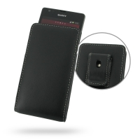 Sony Xperia SP Pouch Case with Belt Clip PDair Premium Hadmade Genuine Leather Protective Case Sleeve Wallet