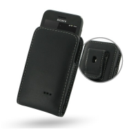 Leather Vertical Pouch Belt Clip Case for Sony Xperia Tipo ST21i2 ST21a2