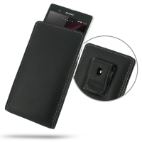 Leather Vertical Pouch Belt Clip Case for Sony Xperia Z L36H