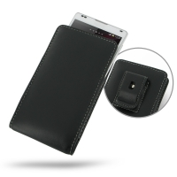 Leather Vertical Pouch Belt Clip Case for Sony Xperia ZL L35H