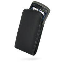 Leather Vertical Pouch Belt Clip Case for Sprint HTC Hero (Black)