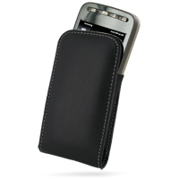 Leather Vertical Pouch Belt Clip Case for T-Mobile HTC Touch Pro2 (Black)