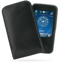 Leather Vertical Pouch Belt Clip Case for Toshiba Portege G810 (Black)