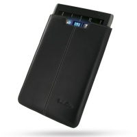 Leather Vertical Pouch Case for Acer Iconia Tab A500 (Black)