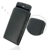 Acer Liquid E700 Leather Sleeve Pouch Case PDair Premium Hadmade Genuine Leather Protective Case Sleeve Wallet