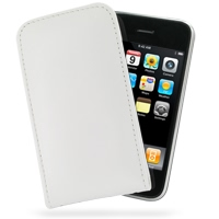 Leather Vertical Pouch Case for Apple iPhone 3G | iPhone 3Gs (White)