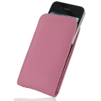 Leather Vertical Pouch Case for Apple iPhone 4 | iPhone 4s (Petal Pink)