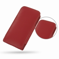 Leather Vertical Pouch Case for Apple iPhone 5 | iPhone 5s (Red)