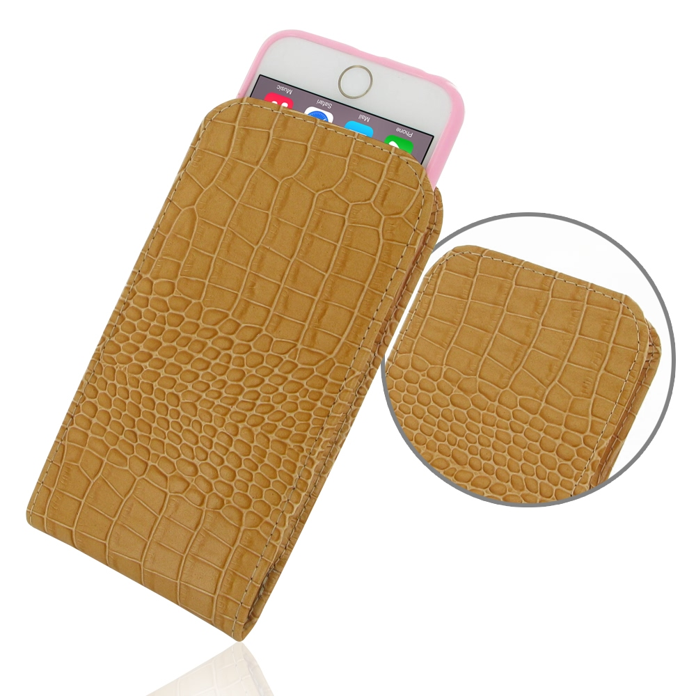 10% OFF + FREE SHIPPING, Buy PDair Quality Handmade Protective iPhone 6 | iPhone 6s (in Slim Cover) Pouch Case (Brown Croc Pattern). You also can go to the customizer to create your own stylish leather case if looking for additional colors, patterns and t